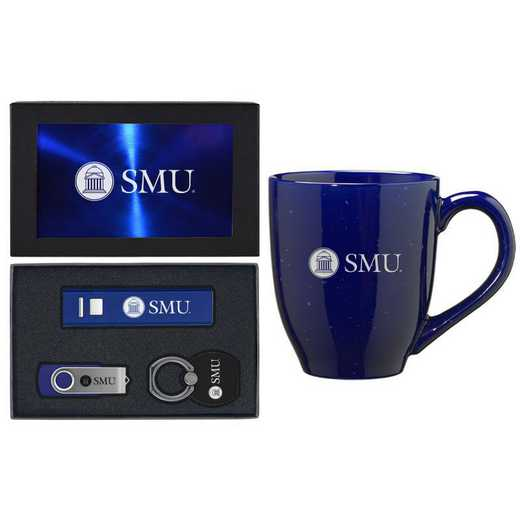 SET-A2-SMU-BLU: LXG Set A2 Tech Mug, Southern Methodist